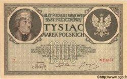 1000 Marek POLOGNE  1919 P.022a SUP+
