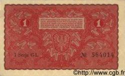 1 Marka POLOGNE  1919 P.023 pr.NEUF