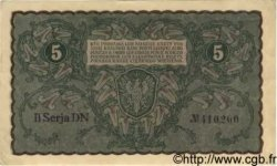 5 Marek POLOGNE  1919 P.024 SPL