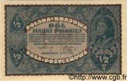1/2 Marki POLOGNE  1920 P.030 pr.NEUF