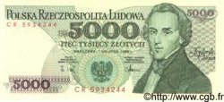 5000 Zlotych POLOGNE  1988 P.150c