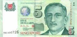 5 Dollars SINGAPOUR  1999 P.39