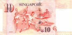 10 Dollars SINGAPOUR  1999 P.40 SPL