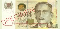 10000 Dollars SINGAPOUR  1999 P.44s NEUF