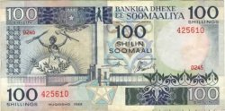 100 Shilin SOMALIE RÉPUBLIQUE DÉMOCRATIQUE  1989 P.35d