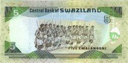 5 Emalangeni SWAZILAND  1990 P.19 NEUF