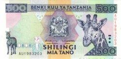 500 Shilingi TANZANIE  1997 P.30