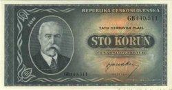 100 Korun TCHÉCOSLOVAQUIE  1945 P.063a pr.NEUF
