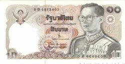10 Baht THAÏLANDE  1980 P.087 NEUF