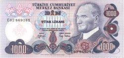 1000 Lirasi TURQUIE  1970 P.191