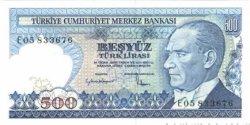 500 Lira TURQUIE  1984 P.195