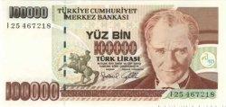 100000 Lirasi TURQUIE  1997 P.206 NEUF