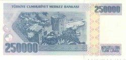 250000  Lirasi TURQUIE  1992 P.207 NEUF