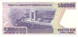 500000 Lirasi TURQUIE  1998 P.212