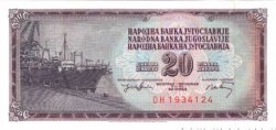 20 Dinara YOUGOSLAVIE  1974 P.085 NEUF