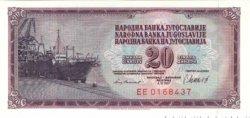 20 Dinara YOUGOSLAVIE  1981 P.088b NEUF