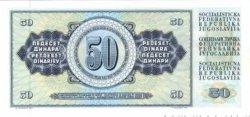50 Dinara YOUGOSLAVIE  1978 P.089 NEUF