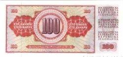 100 Dinara YOUGOSLAVIE  1986 P.090c NEUF