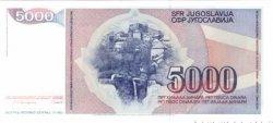 5000 Dinara YOUGOSLAVIE  1985 P.093a NEUF