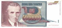 5000000 Dinara YOUGOSLAVIE  1993 P.121 SPL+