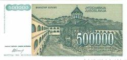 500000 Dinara YOUGOSLAVIE  1993 P.131 NEUF