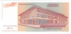 500000000000 Dinara YOUGOSLAVIE  1993 P.137 NEUF