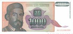 1000 Dinara YOUGOSLAVIE  1994 P.140 NEUF