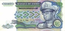 5000 Zaires ZAÏRE  1988 P.37 SPL