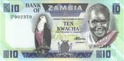 10 Kwacha ZAMBIE  1980 P.26e NEUF