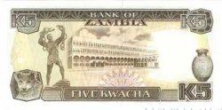 5 Kwacha ZAMBIE  1989 P.30 NEUF