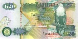 20 Kwacha ZAMBIE  1992 P.36a NEUF