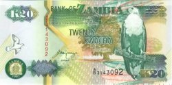 20 Kwacha ZAMBIE  1992 P.36b NEUF