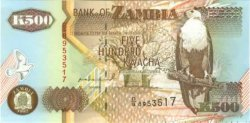 500 Kwacha ZAMBIE  1992 P.39a NEUF