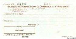 Chèque INDE FRANÇAISE  1960  NEUF