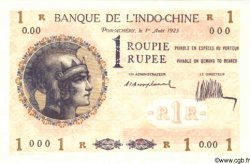 1 Roupie - 1 Rupee INDE FRANÇAISE  1923 P.004as NEUF