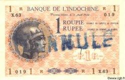 1 Roupie / Rupee INDE FRANÇAISE  1932 P.004as