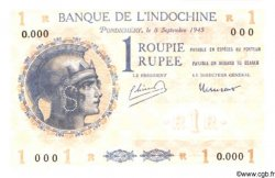 1 Roupie - 1 Rupee INDE FRANÇAISE  1945 P.004ds NEUF