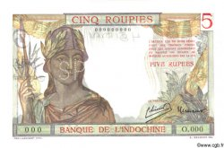 5 Roupies INDE FRANÇAISE  1945 P.005bs pr.NEUF