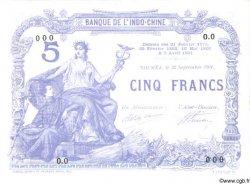 5 Francs NOUVELLE CALÉDONIE  1901 P.15a SPL