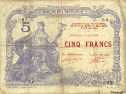 5 Francs NOUVELLE CALÉDONIE  1916 P.15a pr.TB