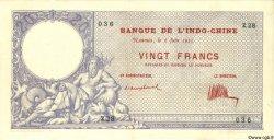 20 Francs NOUVELLE CALÉDONIE  1925 P.20 SUP