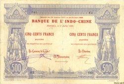 500 Francs NOUVELLE CALÉDONIE  1898 P.13a TTB