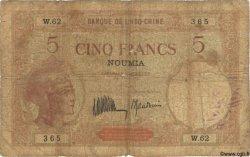 5 Francs NOUVELLE CALÉDONIE  1936 P.36b AB