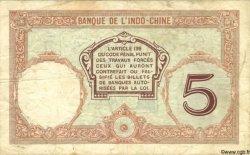 5 Francs NOUVELLE CALÉDONIE  1936 P.36b TB