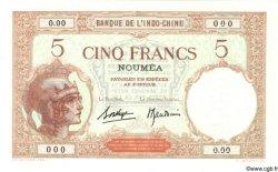 5 Francs NOUVELLE CALÉDONIE  1940 P.36bs NEUF