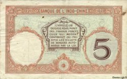 5 Francs NOUVELLE CALÉDONIE  1940 P.36b TB