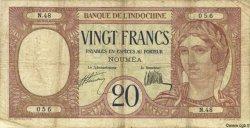 20 Francs NOUVELLE CALÉDONIE  1932 P.37a B