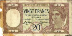 20 Francs NOUVELLE CALÉDONIE  1940 P.37b AB