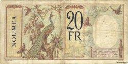 20 Francs NOUVELLE CALÉDONIE  1940 P.37b TB
