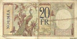 20 Francs NOUVELLE CALÉDONIE  1940 P.37b TTB